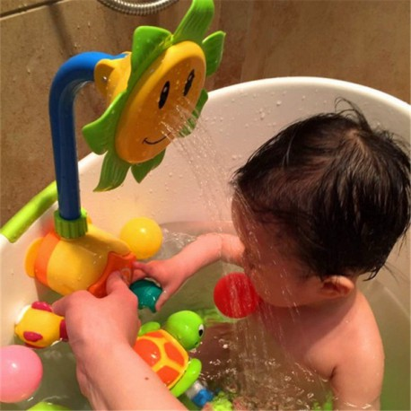 Fleur de tournesol jouet bébé pour le bain