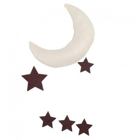 Décoration chambre enfant lune et étoiles