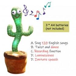 Peluche cactus qui danse et qui répète